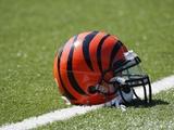 Broncos Bengals Football: Cincinnati, OH - Cincinnati Bengals Helmet Photo av Ed Reinke