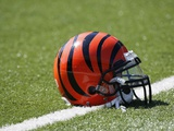 Broncos Bengals Football: Cincinnati, OH - Cincinnati Bengals Helmet Photo by Ed Reinke