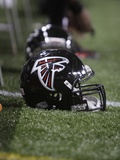 Falcons Rams Football: St. Louis, MO - An Atlanta Falcons Helmet Photographic Print by Seth Perlman