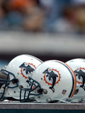 Dolphins Jaguars Football: Jacksonville, FL - Miami Dolphins Helmets Photo av Stephen Morton