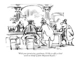 """With your permission, gentlemen, I'd like to offer a kind word on behalf …"" - New Yorker Cartoon Premium Giclee Print by Lee Lorenz"
