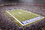 Bears Colts Football: Indianapolis, INDIANA - Lucas Oil Stadium Panorama Print by AJ Mast