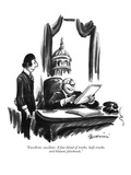"""Excellent, excellent. A fine blend of truths, half-truths, and blatant fa…"" - New Yorker Cartoon Premium Giclee Print by Eldon Dedini"