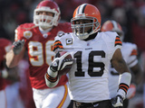 Browns Chiefs Football: Kansas City, MO - Josh Cribbs Photographic Print by Reed Hoffmann