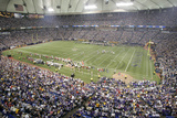 49ers Vikings Football: Minneapolis, MN - Hubert H. Humphrey Metrodome Photographic Print by Paul Battaglia