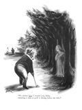 """No matter how I treated you, Julia, haunting a man at golf is hitting bel…"" - New Yorker Cartoon Premium Giclee Print by Eldon Dedini"