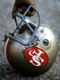 NFL Historical Imagery: San Francisco 49ers helmet Posters