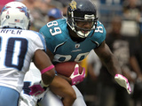 Titans Jaguars Football: Jacksonville, FL - Marcedes Lewis Photographic Print by Stephen Morton