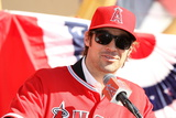 Los Angeles Angels of Anaheim, CA - December 10: Newly Signed C.J. Wilson Photographic Print by Stephen Dunn