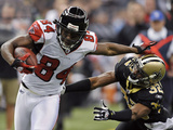 Falcons Saints Football: New Orleans, LA - Roddy White Photographic Print by Bill Feig
