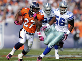 Cowboys Broncos Football: Denver, CO - Knowshon Moreno Photographic Print by David Zalubowski