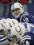 REDSKINS COLTS FOOTBALL: INDIANAPOLIS, IN - Peyton Manning Fotografisk trykk av Tom Strattman