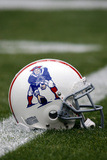 Patriots Broncos Football: Denver, CO - Patriots Throwback Helmet Photographic Print by Jack Dempsey