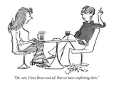 """Oh, sure, I love Bruce and all. But we have conflicting diets."" - New Yorker Cartoon Premium Giclee Print by Edward Frascino"