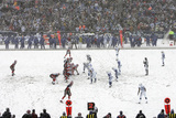 Colts Bills Football: Orchard Park, NY - Bills and Colts in the Snow Prints by Mike Groll