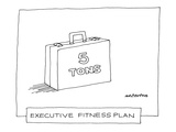 Executive Fitness Plan' - New Yorker Cartoon Premium Giclee Print by Mick Stevens