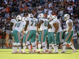 NFL Concept Shots and Isolated: ,  - The Miami Dolphins Fotografisk trykk