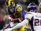 Vikings Rams Football: St. Louis, MO - Steven Jackson Poster av Jeff Roberson