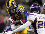 Vikings Rams Football: St. Louis, MO - Steven Jackson Print by Jeff Roberson