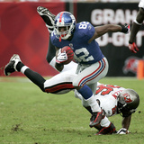Giants Buccaneers Football: Tampa, FL - Mario Manningham Photographic Print by Reinhold Matay