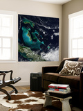 Satellite View of the Bahama Islands in the Atlantic Ocean Wall Mural by  Stocktrek Images