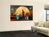 An Astronaut Discovers a World with an Earth Type Environment Wall Mural by  Stocktrek Images