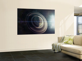 Light from a Nearby Star Illuminates a Massive Ringed Gas Giant Wall Mural by  Stocktrek Images