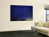 A Wide Field Composite Showing the Moon Against the Stars Wall Mural by  Stocktrek Images