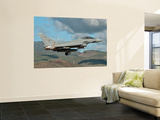 A Eurofighter Typhoon of the Spanish Air Force Wall Mural by Stocktrek Images