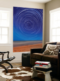 Star Trails around the South Celestial Pole at the Beach in Miramar, Argentina Wall Mural by  Stocktrek Images