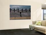 Sailors Man the Rails on the Amphibious Assault Ship Uss Essex Wall Mural by  Stocktrek Images