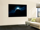 Dawn Breaks on an Alien Planet Wall Mural by  Stocktrek Images