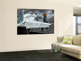 Flight Deck Crew Position an F/A-18E Super Hornet into Launch Position Aboard Uss Eisenhower Wall Mural by  Stocktrek Images