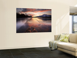 A Frozen Straumen Lake on Tjeldøya Island in Nordland County, Norway Wall Mural by  Stocktrek Images