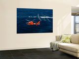 A Helicopter Crew Trains Off the Coast of Jacksonville, Florida Wall Mural by  Stocktrek Images