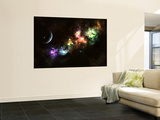 Artist's Concept of Planet Carenteen, a Dwarf Planet Host to Beautiful Night Skies Premium Wall Mural by  Stocktrek Images