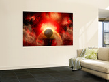 Artist&#39; Concept Illustrating the Explosion of a Supernova Wall Mural by Stocktrek Images 