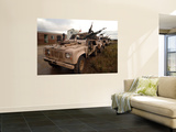 A Pink Panther Land Rover of the British Army Wall Mural by  Stocktrek Images