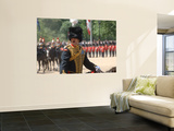 An Officer Shouts Commands During the Trooping the Colour Ceremony at Horse Guards Parade, London Wall Mural by  Stocktrek Images