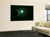 A Quiet and Unusual System That Emits an Impossible Green Light Wall Mural by  Stocktrek Images