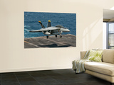 An F/A-18F Super Hornet Prepares to Land Aboard Uss Eisenhower Wall Mural by Stocktrek Images