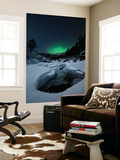 Aurora Borealis over Tennevik River in Norway Wall Mural by  Stocktrek Images
