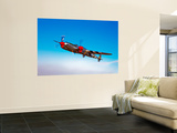A Lockheed P-38 Lightning Fighter Aircraft in Flight Wall Mural by  Stocktrek Images