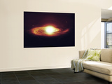 Implosion of a Sun with Visible Solar System and Planets Wall Mural by  Stocktrek Images