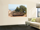 The Merkava Mark IV Main Battle Tank of the Israel Defense Force Wall Mural by  Stocktrek Images