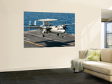 A Us Navy E-2C Hawkeye Prepares to Land Aboard Uss Eisenhower Wall Mural by  Stocktrek Images