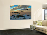 German Heinkel He 111 Bombers Gather over the English Channel Wall Mural by  Stocktrek Images