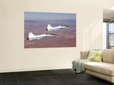 Two T-38A Mission Support Aircraft Fly in Tight Formation Wall Mural by  Stocktrek Images