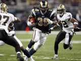 Saints Rams Football: St. Louis, MO - Steven Jackson Photographic Print by Tom Gannam