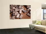 A Pile of Meals Ready to Eat Lies on the Floor at a Compound Wall Mural by  Stocktrek Images